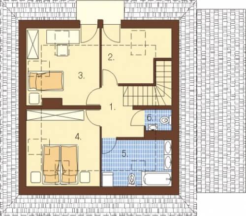 Projekt domu L-5521 - rzut