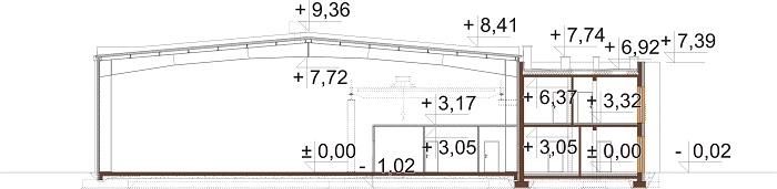 Projekt LK-139 - przekrój
