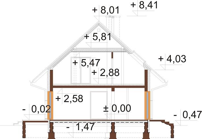 Projekt domu DM-6791 - przekrój