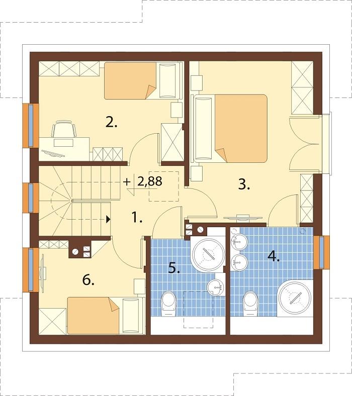 Projekt domu DM-6791 - rzut