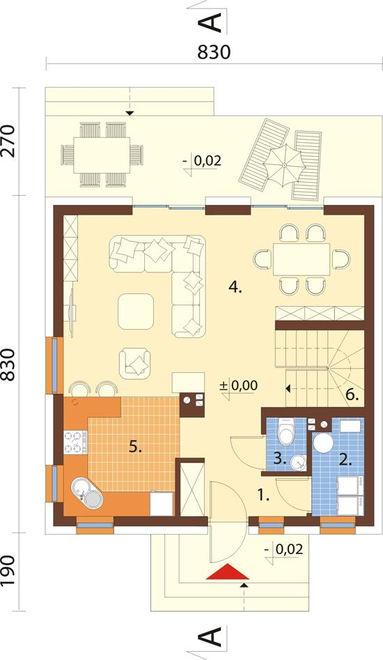 Projekt domu L-6791 - rzut