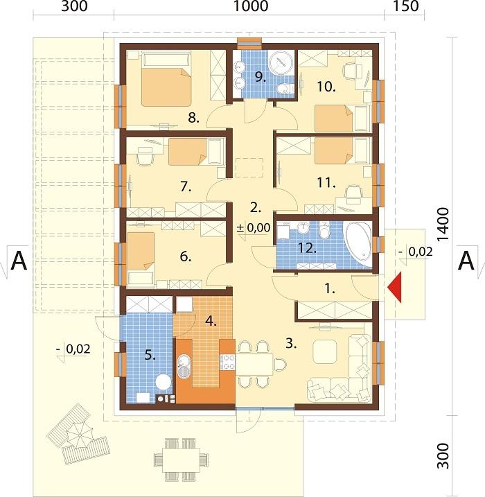 Projekt domu DM-6735 - rzut