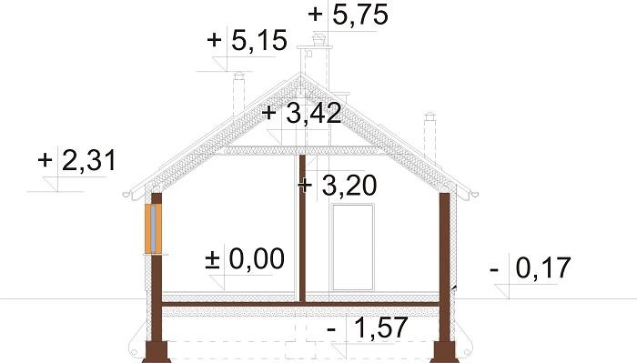 Projekt domu L-6789 - przekrój