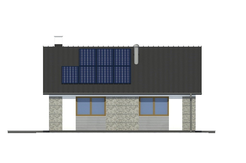 Projekt domu L-6789 - elewacja