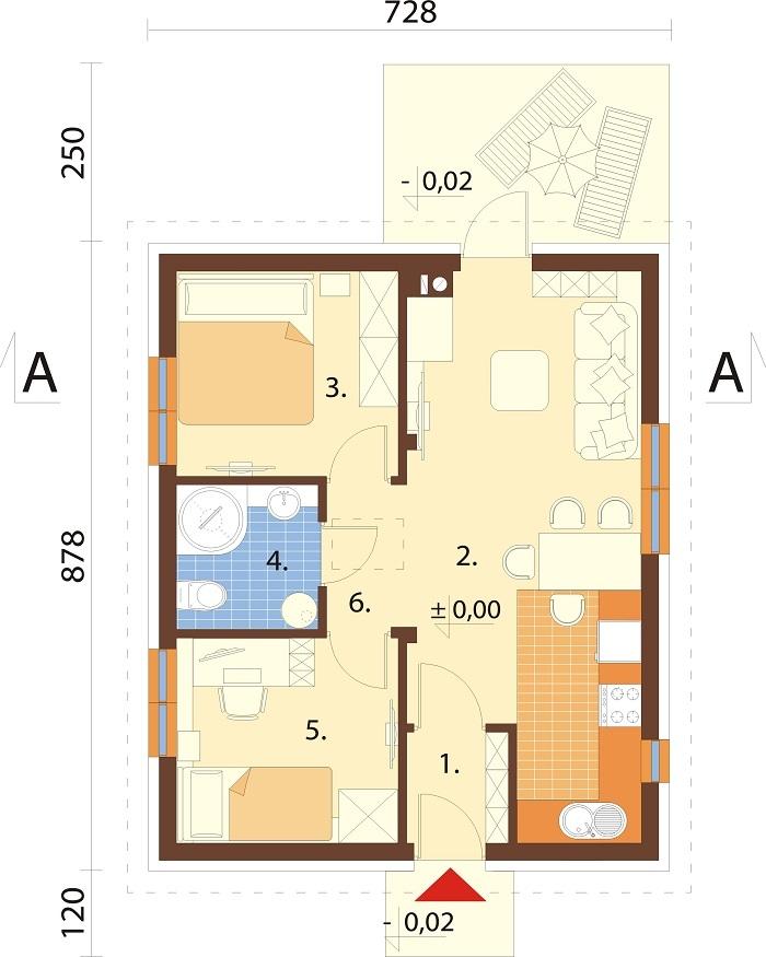 Projekt domu L-6789 - rzut