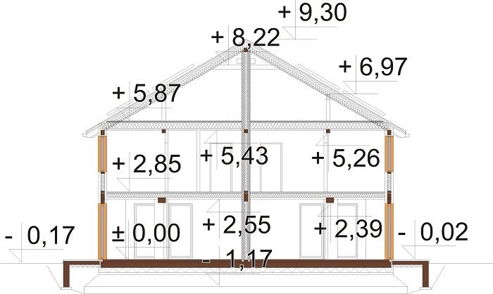 Projekt domu DM-6792 - przekrój