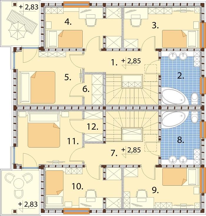 Projekt domu DM-6792 - rzut