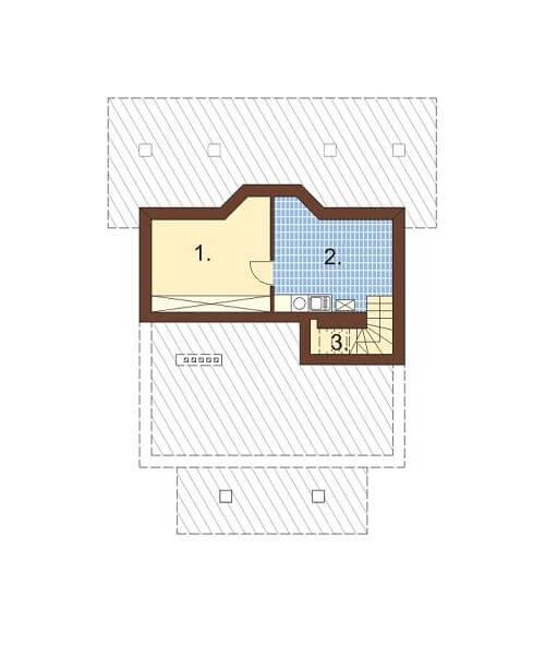 Projekt domu L-5530 - rzut
