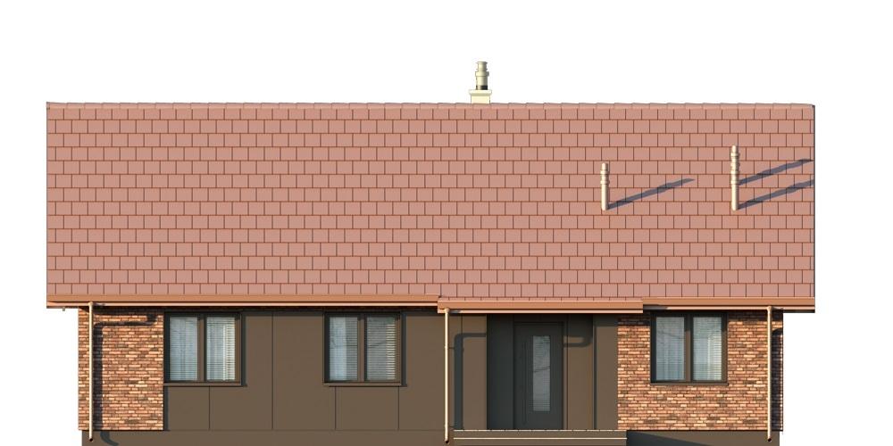 Projekt domu L-6616 F - elewacja