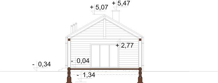Projekt domu DM-6780 - przekrój