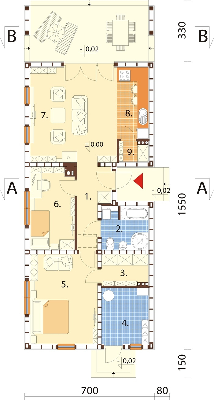 Projekt domu DM-6780 - rzut