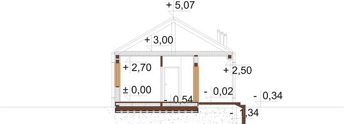 Projekt domu L-6780 - przekrój