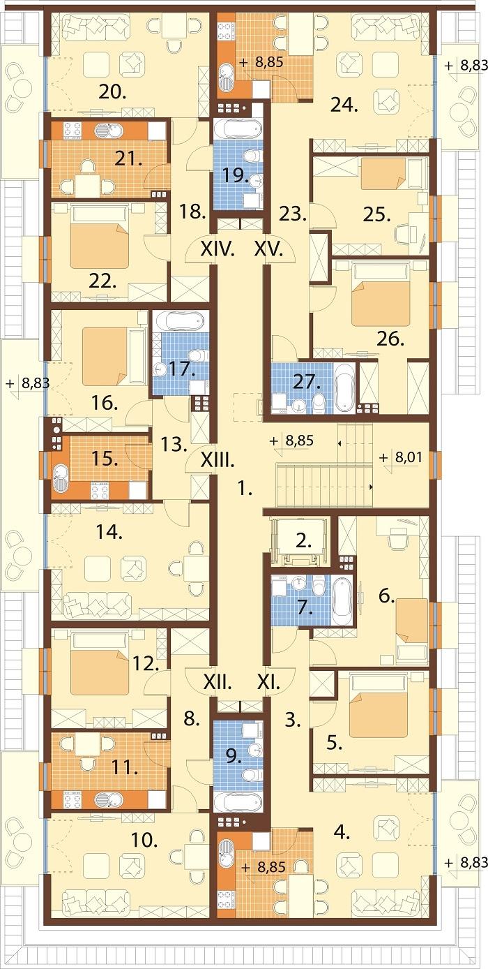 Projekt domu DM-6793 - rzut