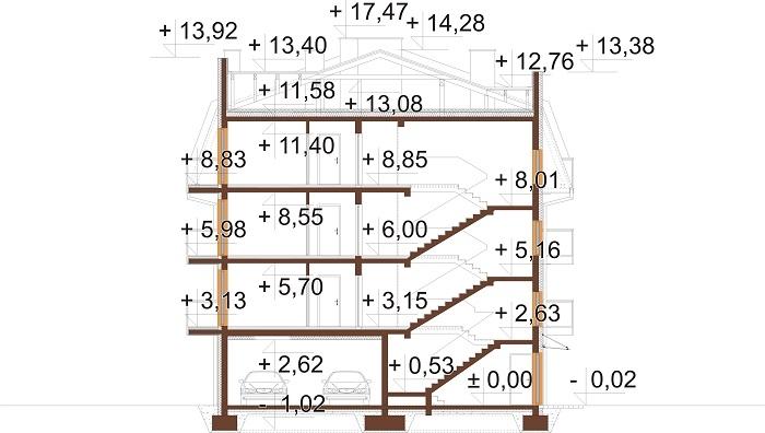 Projekt domu DM-6793 - przekrój