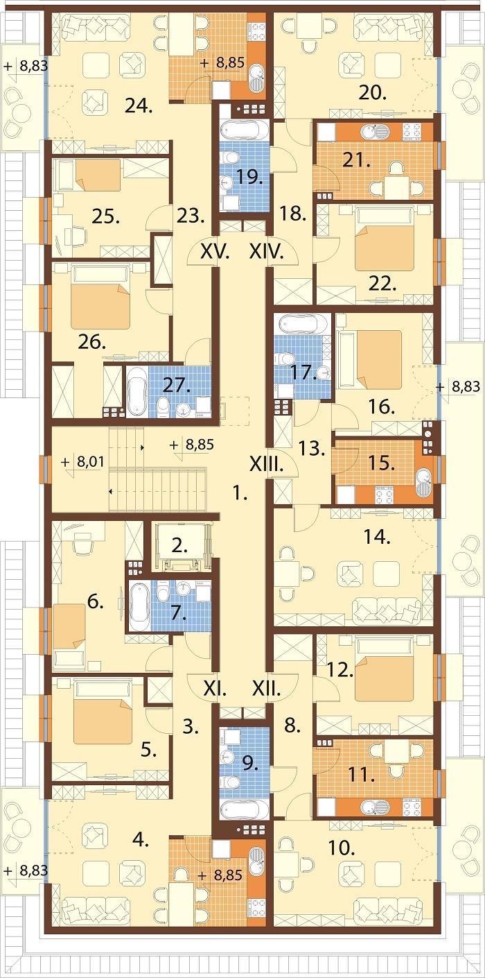 Projekt domu L-6793 - rzut