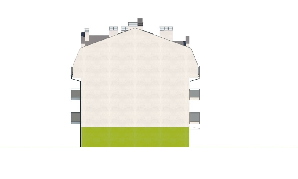 Projekt domu L-6793 - elewacja