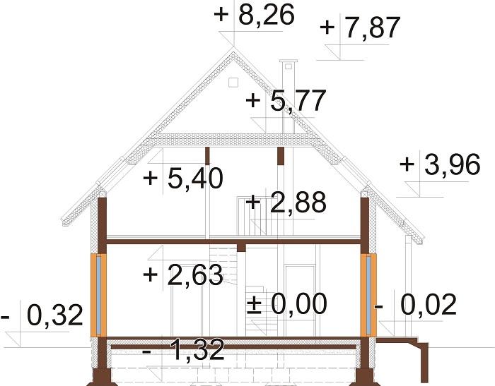 Projekt domu DM-6798 - przekrój