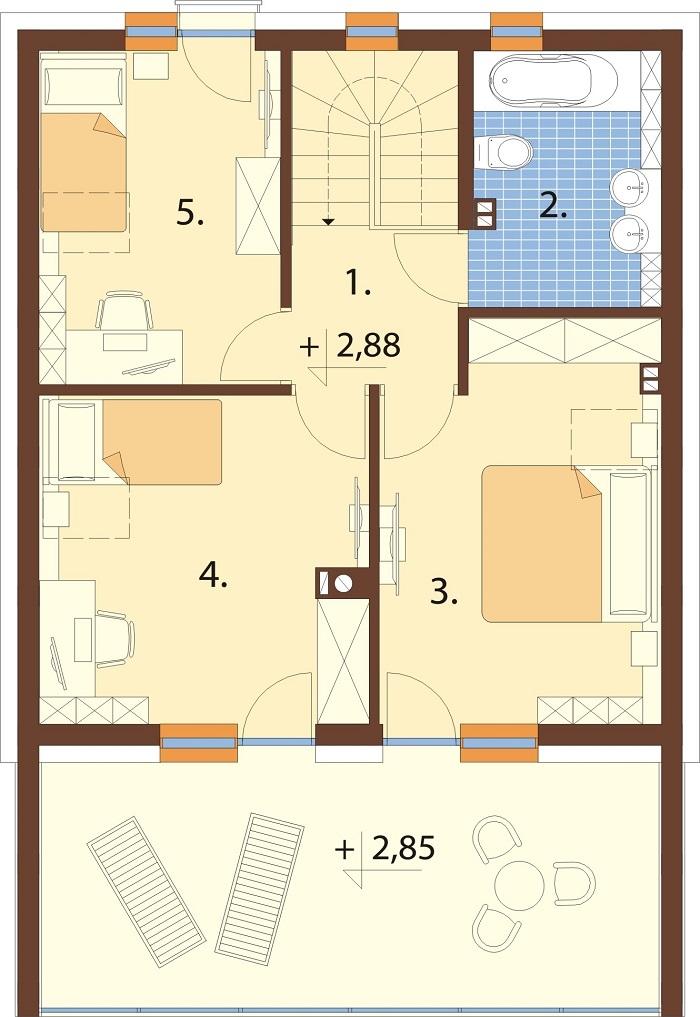 Projekt domu DM-6798 - rzut