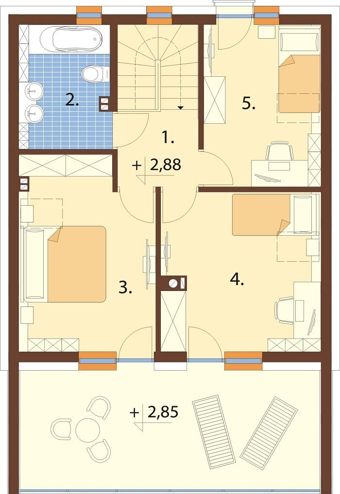 Projekt domu L-6798 - rzut
