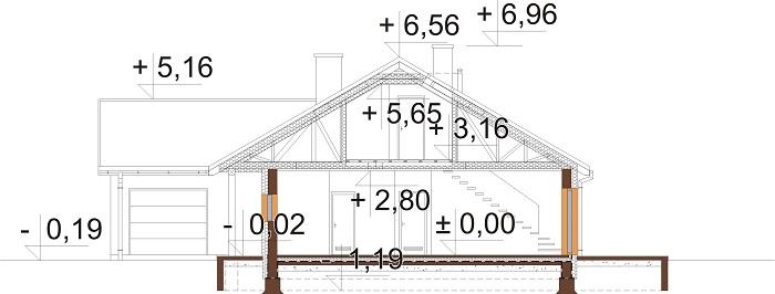 Projekt domu DM-6769 - przekrój