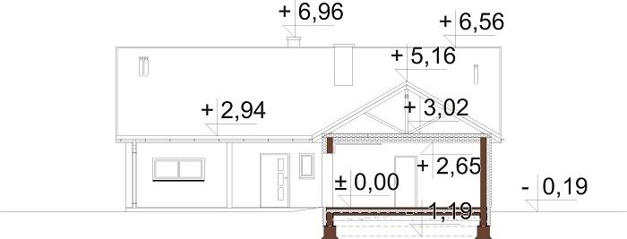 Projekt domu L-6769 - przekrój