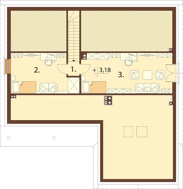 Projekt domu L-6769 - rzut