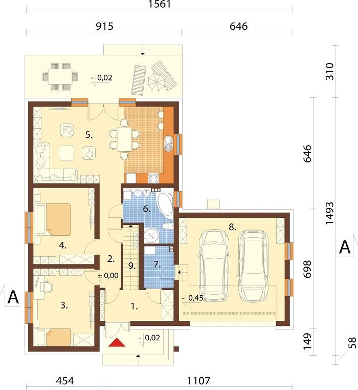 Projekt domu DM-6797 - rzut