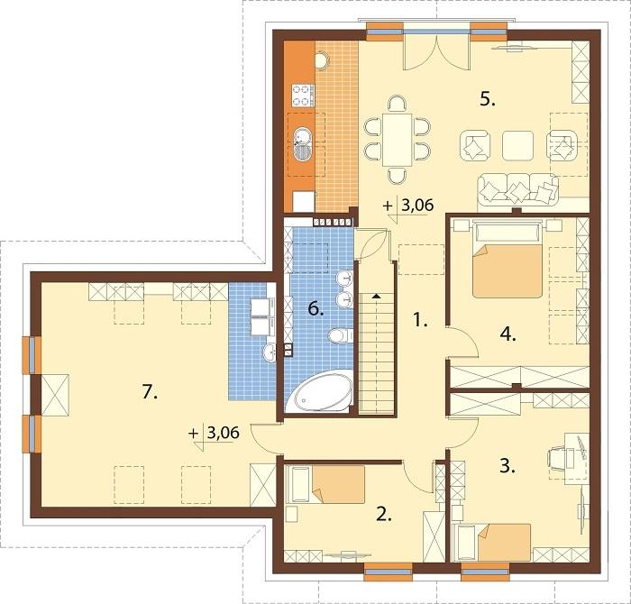 Projekt domu L-6797 - rzut