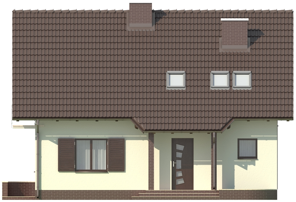 Projekt domu DM-5573 - elewacja