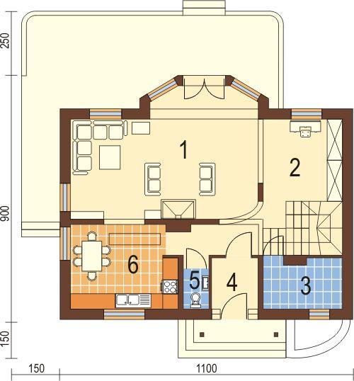 Projekt domu DM-5573 - rzut