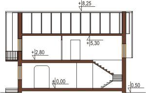 Projekt domu DM-5573 - przekrój