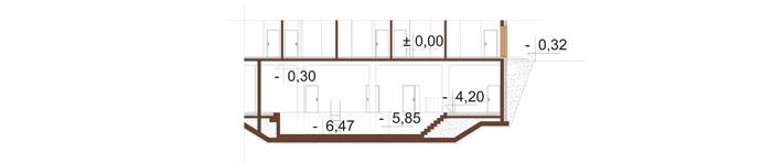 Projekt LK-133 - przekrój