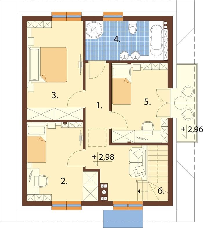 Projekt domu DM-6767 - rzut