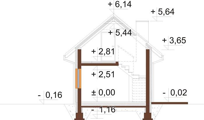 Projekt domu DM-6773 - przekrój