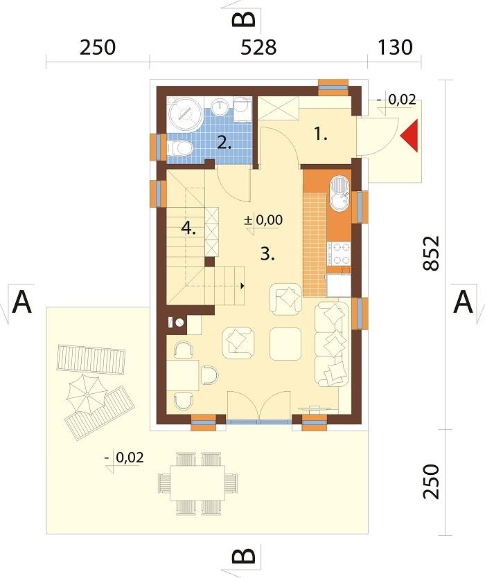 Projekt domu DM-6773 - rzut