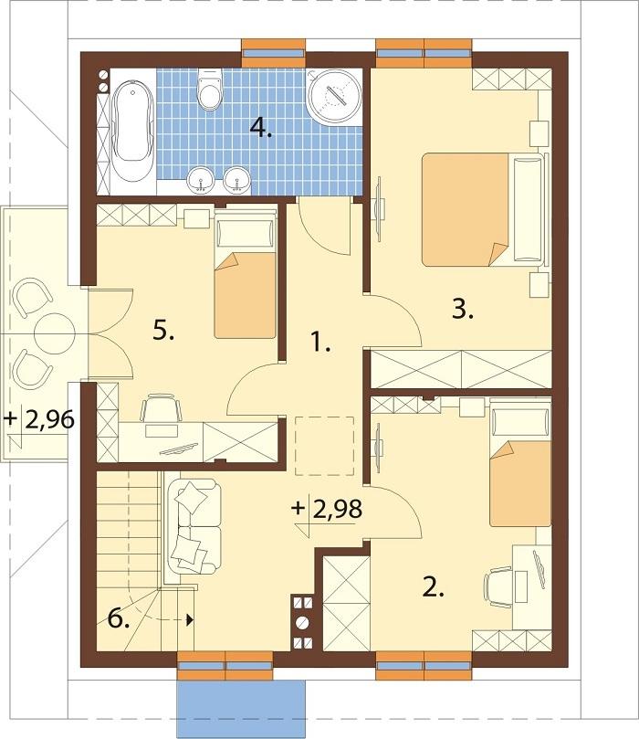 Projekt domu L-6767 - rzut