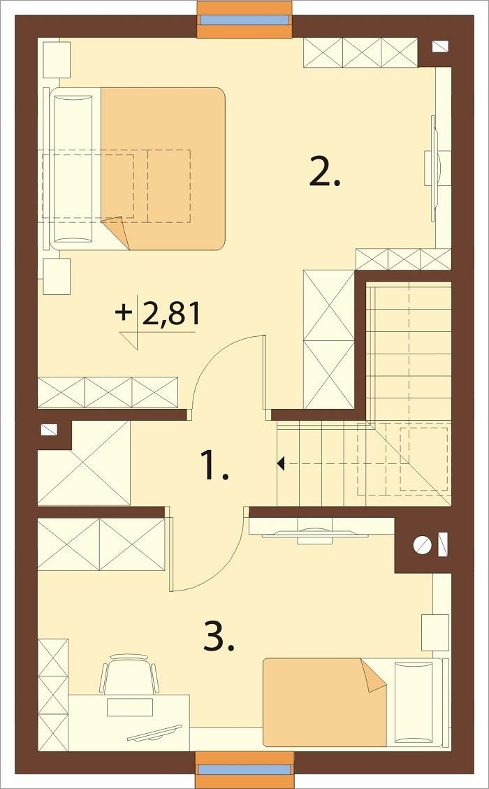 Projekt domu L-6773 - rzut