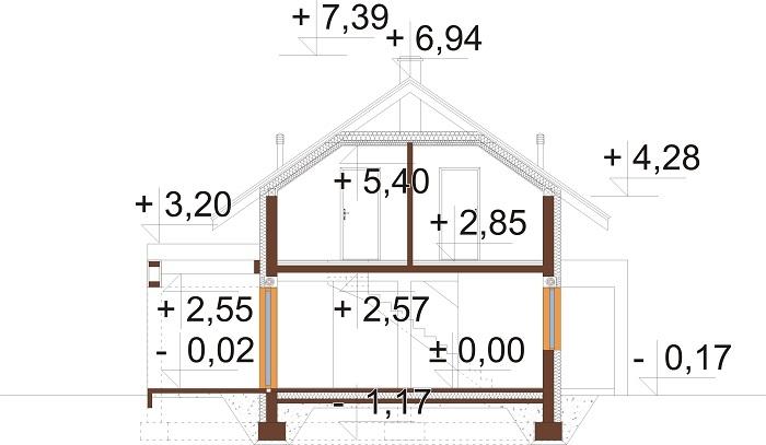 Projekt domu DM-6786 - przekrój
