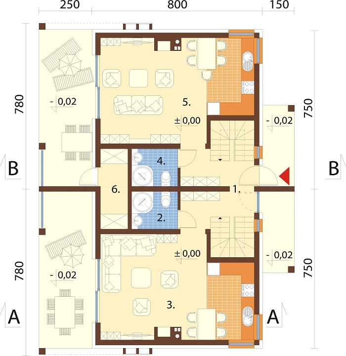 Projekt domu DM-6787 - rzut