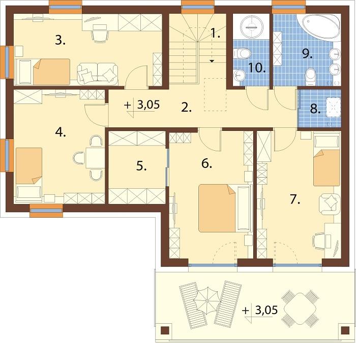 Projekt domu DM-6799 - rzut