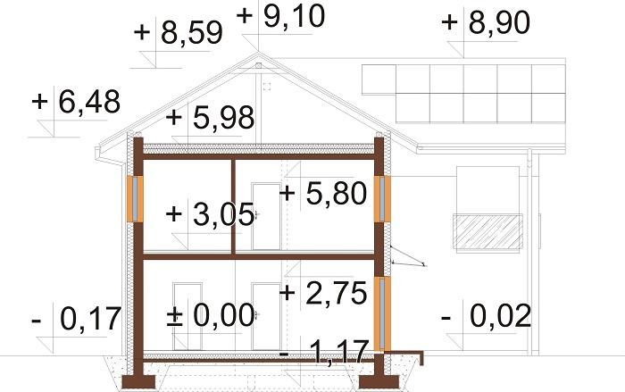 Projekt domu DM-6799 - przekrój
