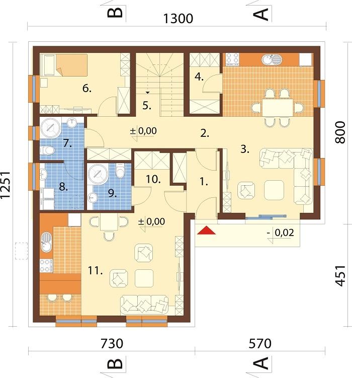 Projekt domu L-6799 - rzut