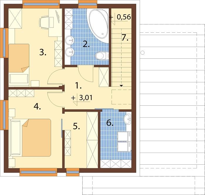 Projekt domu L-6803 - rzut