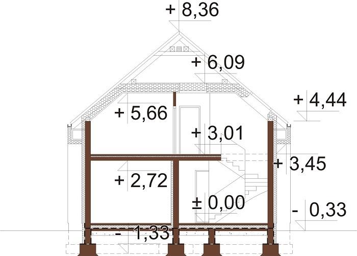 Projekt domu DM-6807 - przekrój