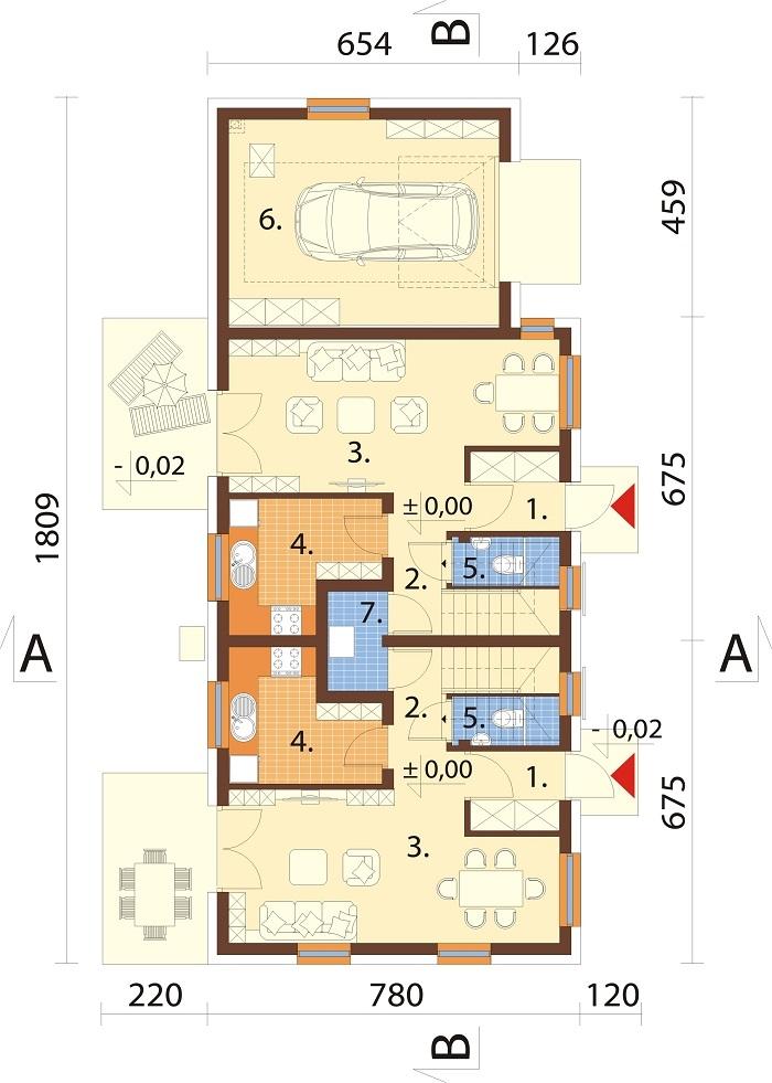 Projekt domu DM-6813 - rzut