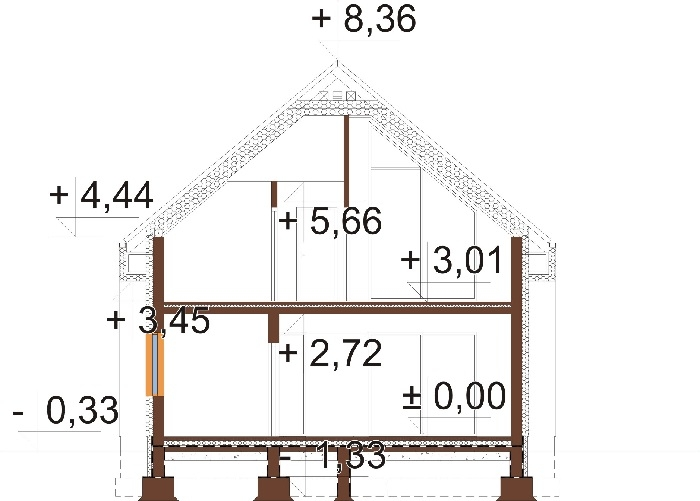 Projekt domu L-6807 - przekrój