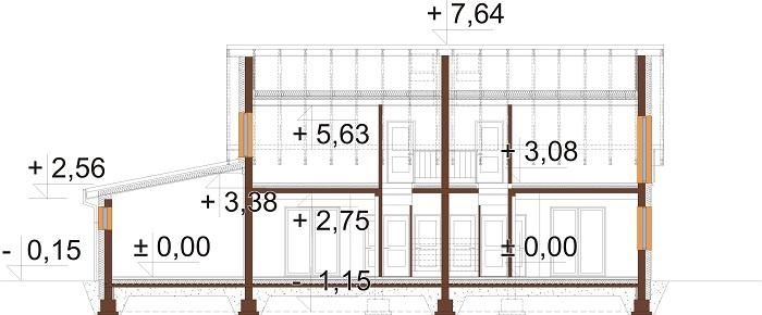 Projekt domu L-6813 - przekrój
