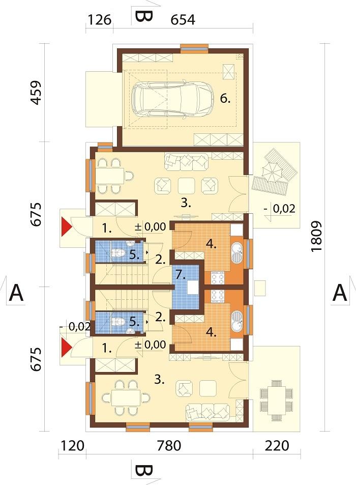 Projekt domu L-6813 - rzut