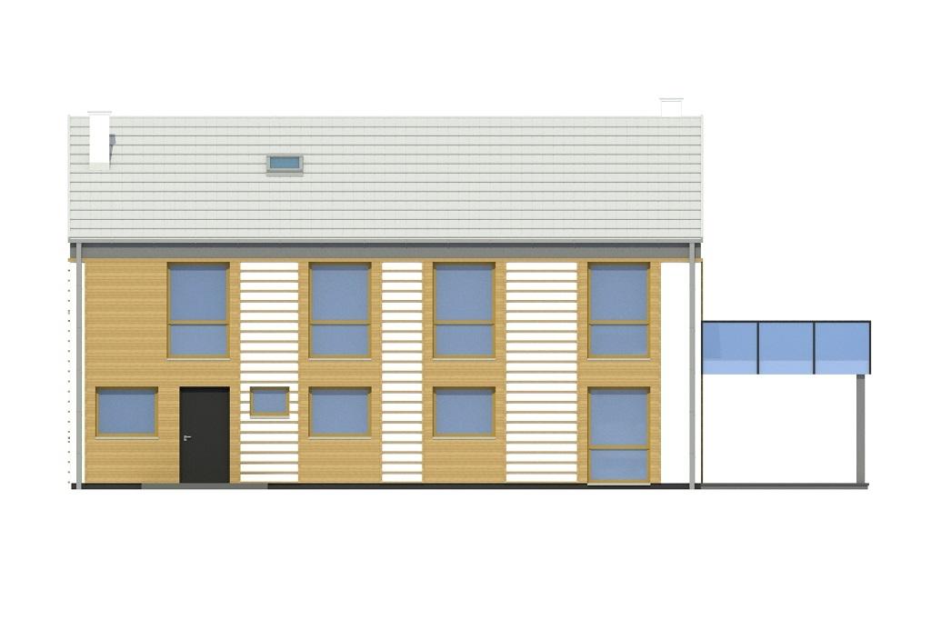 Projekt domu DM-6808 - elewacja