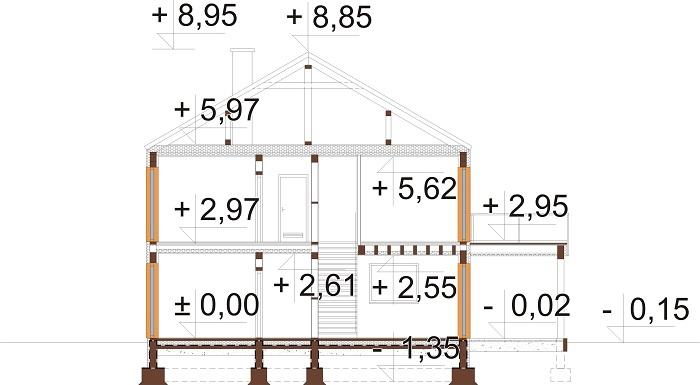 Projekt domu DM-6808 - przekrój